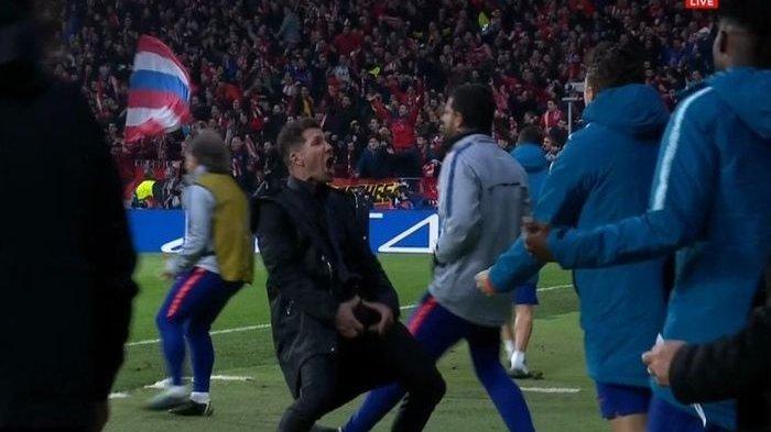 Selebrasi Berlebihan Simeone Terancam Sanksi UEFA